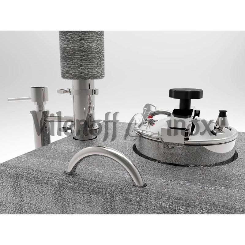 Непрерывная бражная колонна НБК  6 кВт (обновленная версия)