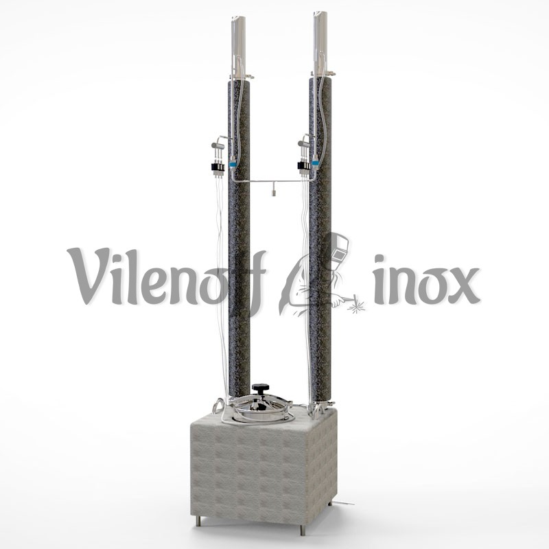 Ректификационная колонна 2х63 мм + куб 93 л + автоматика